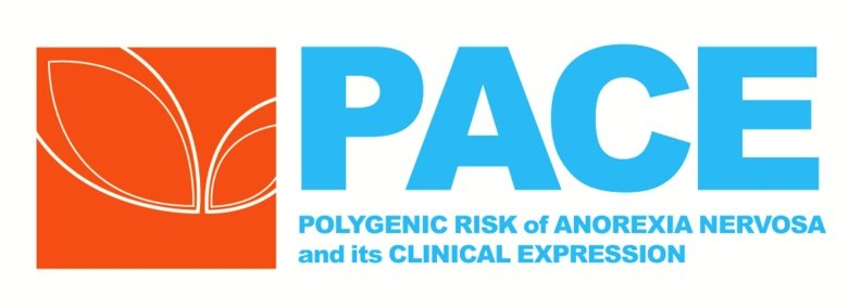 Blue and orange logotype for the study PACE