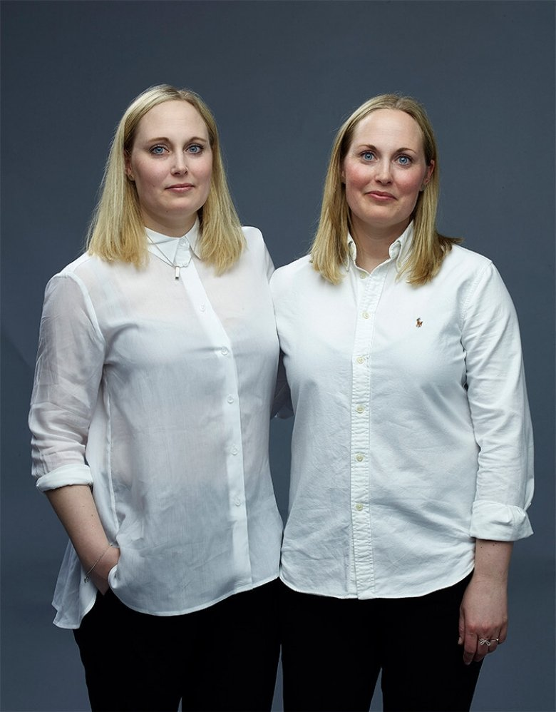 Twins Sanna (left) and Rebecka Johansson (right) have participated in several twin studies. Photo: Lindsten & Nilsson