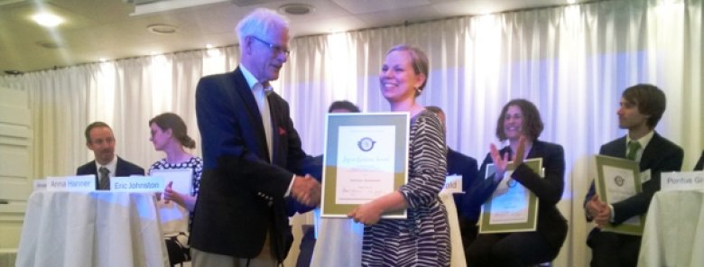 Ingvar Carlsson Award ceremony.